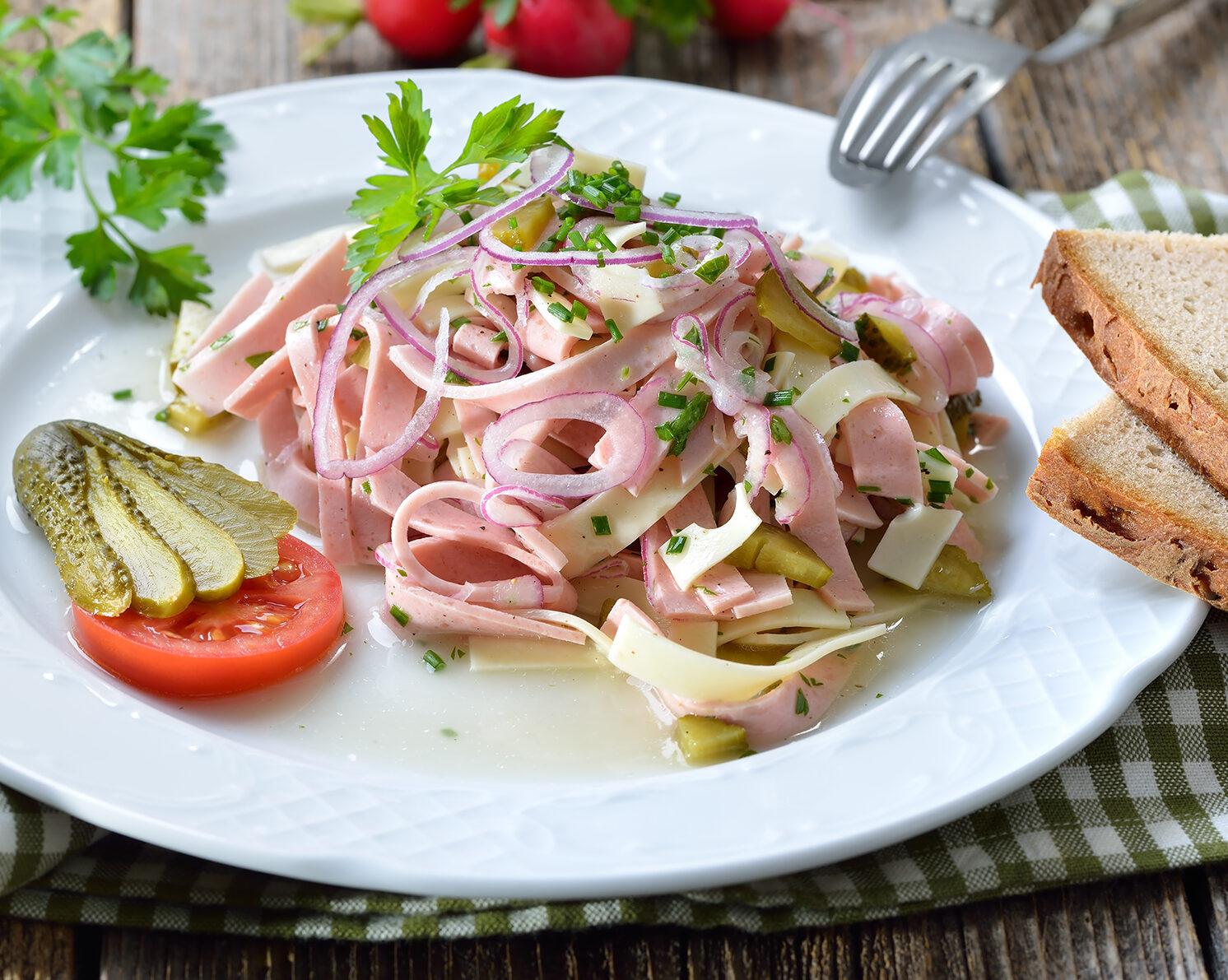 Oberpfälzer Wurstsalat mit Lyoner
